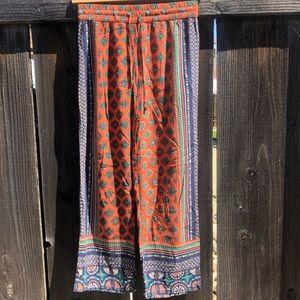 Pants - Boho Style Palazzo Beach/Festival Wide Leg Pant